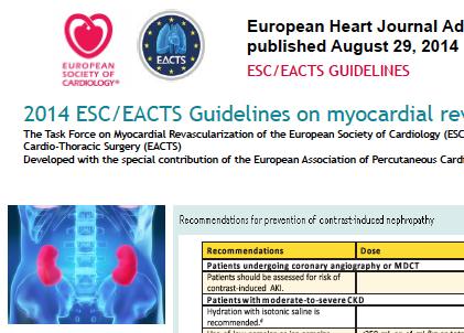 Le linee guida europee approvate da ESC e EACTS.
