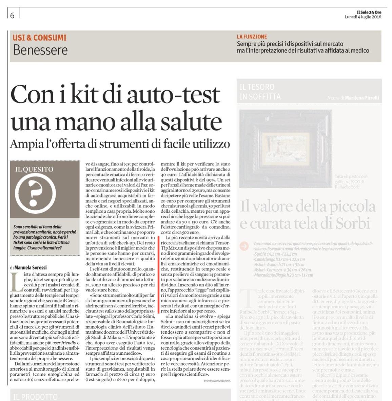 Articolo Sole24ore CNOGA mtx