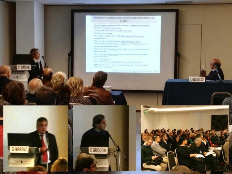 I relatori parlano della prevenzione della CIN al corso ECm svoltosi a Bari l'11 novembre 2016