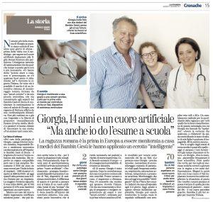 Articolo La Stampa Giorgia cerotto smart e cuore artificiale