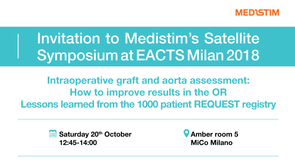 Invitation to Medistim's Satellite Symposium at EACTS Milan 2018