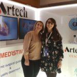 Laura Cavallotti e Giorgia Bonalumi pesso lo stand della Artech