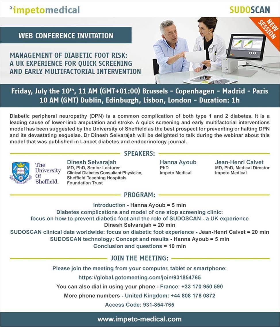 Invito Webconference Sudoscan 10 luglio