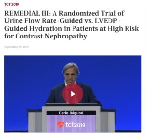 Il Dr. Briguori presenta lo studio Remedial III al TCT 2019