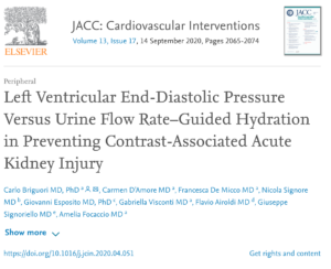 Left Ventricular End-Diastolic Pressure Versus Urine Flow Rate–Guided Hydration in Preventing Contrast-Associated Acute Kidney Injury